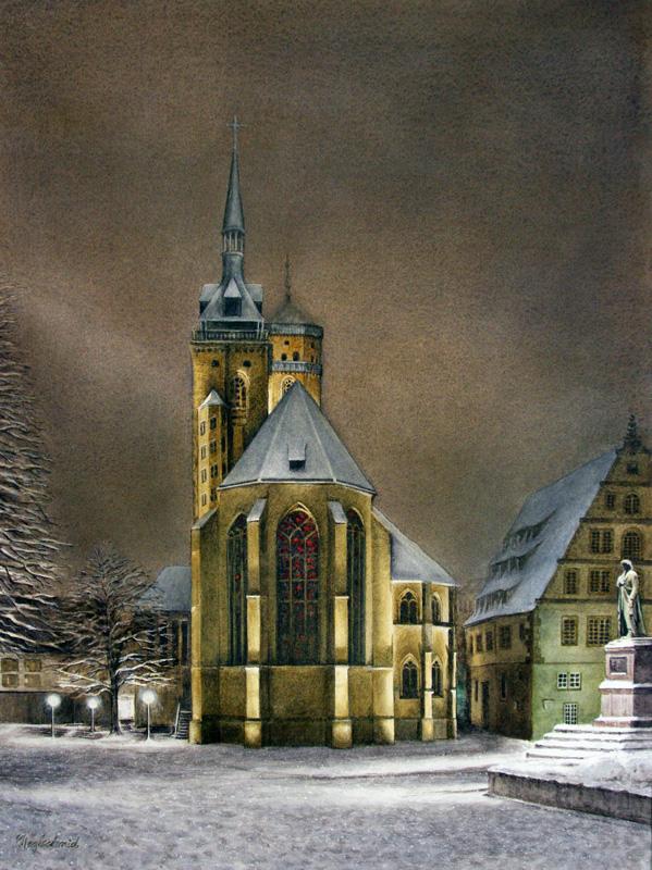 Andacht - Stiftskirche in Stuttgart