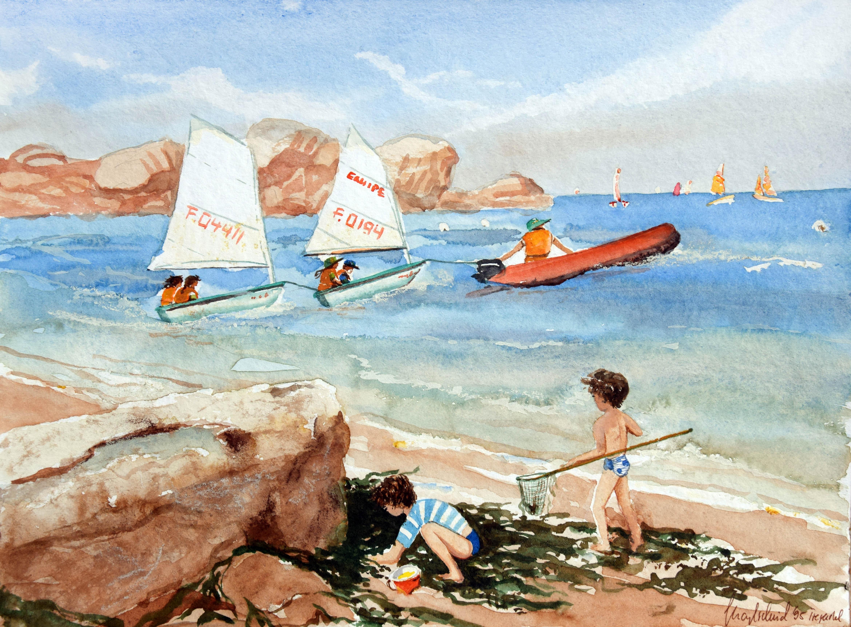 Strandskizze Bretagne