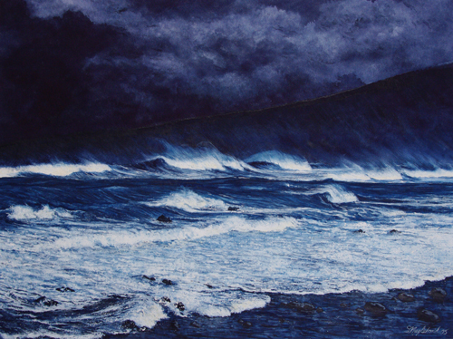 Hurricane - Hawaii - Aquarell