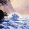 Die Welle - Hawaii - Aquarell