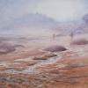Morgennebel - Bretagne - Aquarell