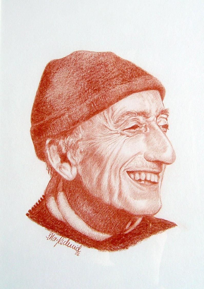 Rötelstift - Jacques-Yves Cousteau