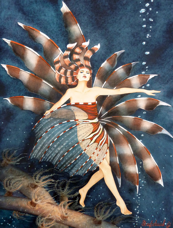 Mermaid Pterois Fine-Art-Print