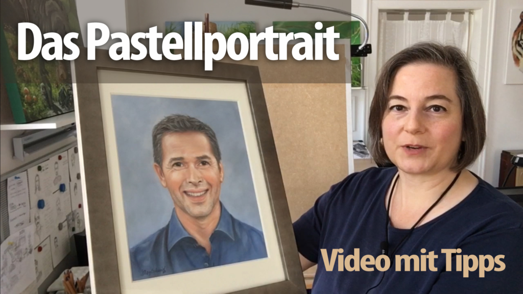 Pastelkreide Portrait auf Papier - Step-by-step