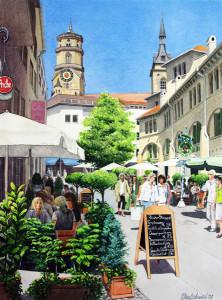 Grusskarte: Einkaufen (Stuttgart)