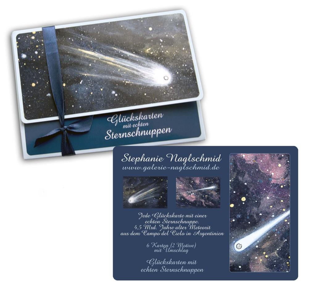 Geschenkkarten-Box Sternschnuppen - Glückskarten
