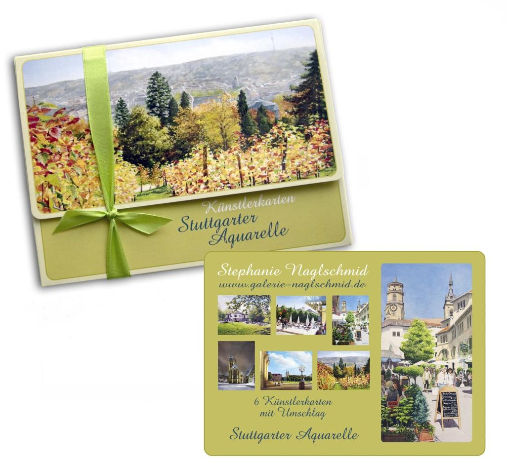 Geschenkkarten-Box Stuttgarter Aquarelle