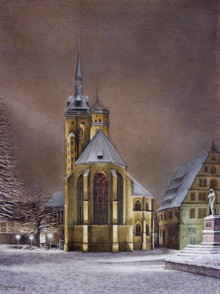 Andacht (Stiftskirche Stuttgart) Fine-Art-Print