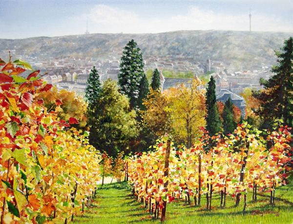 Herbstlicht (Karlshöhe Stuttgart) Fine-Art-Print