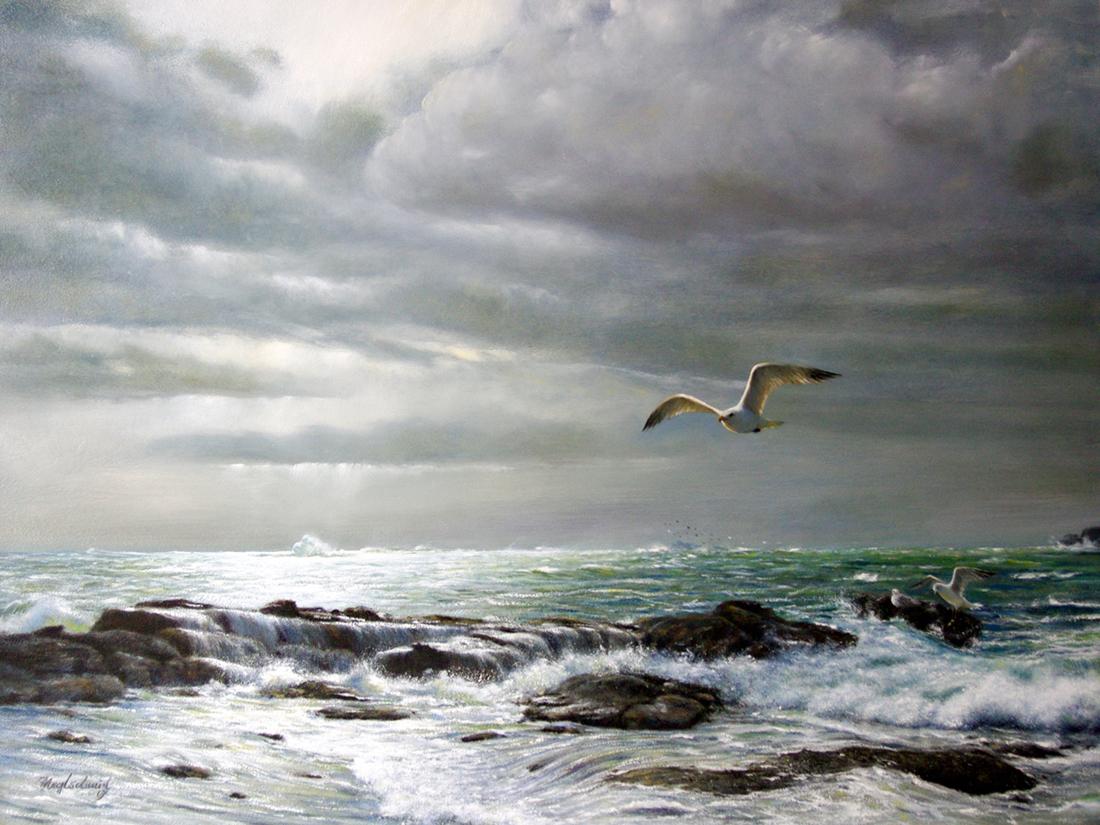 Nach dem Sturm (Bretagne) Fine-Art-Print