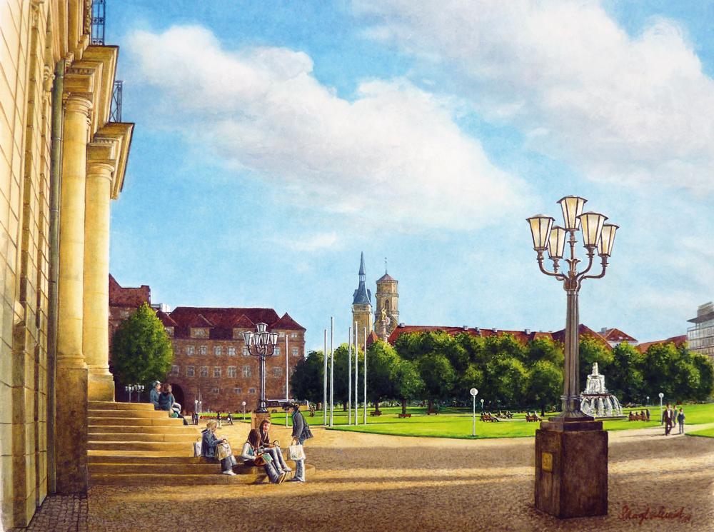 Schlossplatz (Stuttgart) Fine-Art-Print