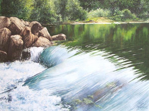 Aufbruch (Cresent River inWashington USA) Fine-Art-Print