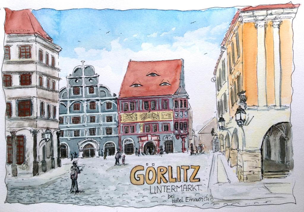 Görlitz - Reiseskizze - Fine-Art-Print