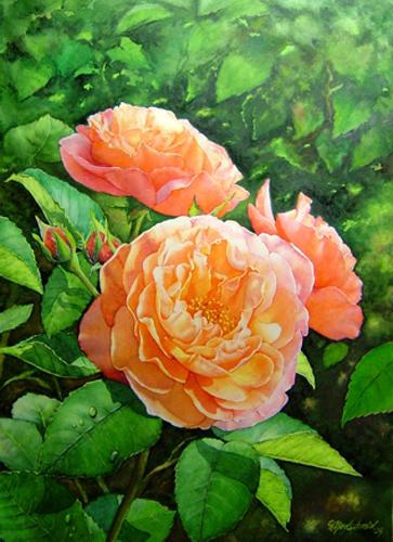 Rosen im Licht Fine-Art-Print