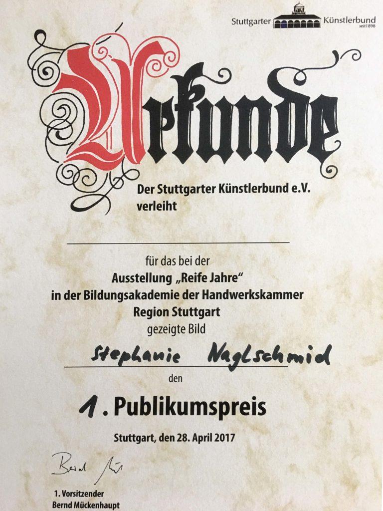 Publikumspreis bei Ausstellung Bildungsakademie