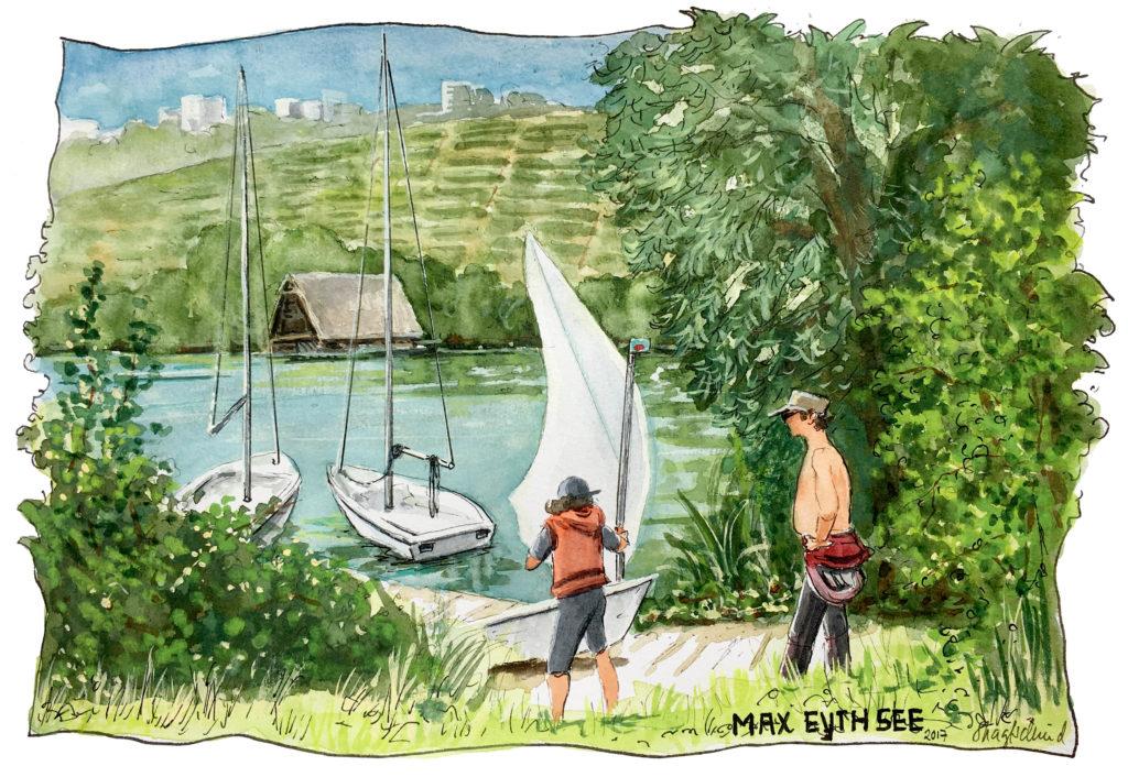 Skizze am Max-Eyth-See