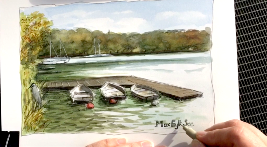 Urban Sketching - schnelle Aquarellskizze