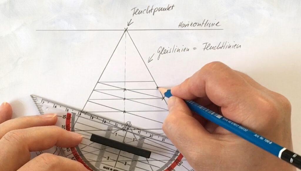 Einfach zeichnen lernen - Teil 5: Zusatz: Perspektivische Verengung