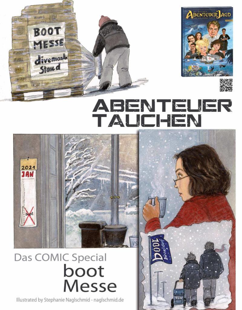 Comic im Fachmagazin divemaster #107